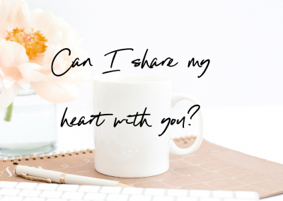 Can I share my heart with you?