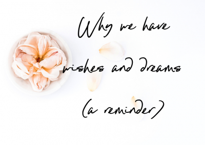Why we have wishes and dreams (a reminder)
