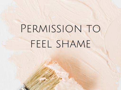 Permission to feel shame