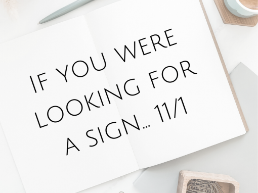 If you were looking for a sign… 11/1