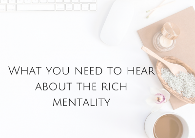 What you need to hear about The Rich Mentality