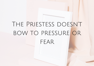 The Priestess Doesn't Bow To Pressure Or Fear