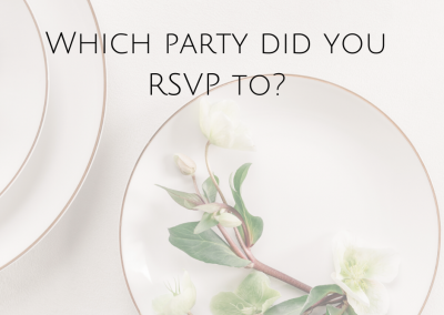 Which party did you RSVP to?