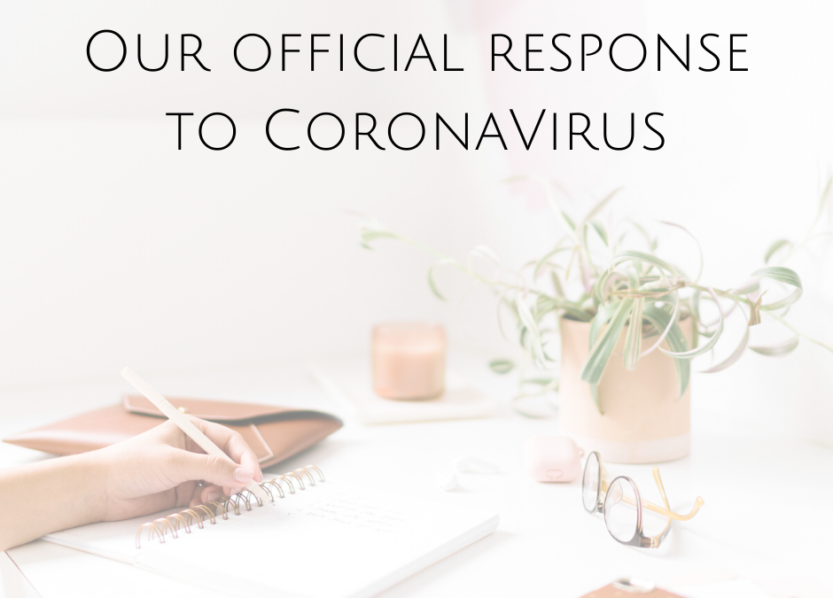 Our official response to CoronaVirus