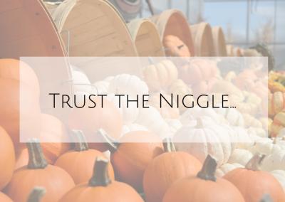 Trust the niggle…