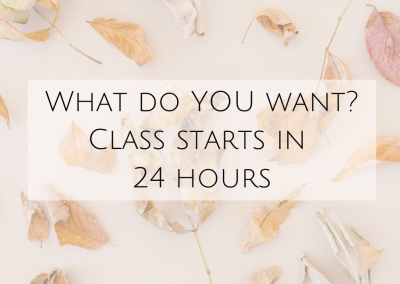 What do YOU want? Class starts in 24 hours