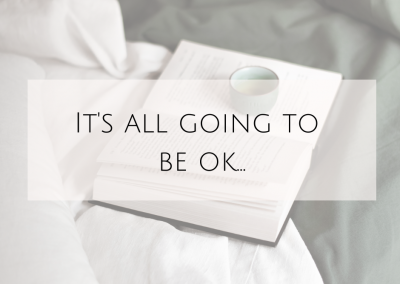 It's all going to be OK…
