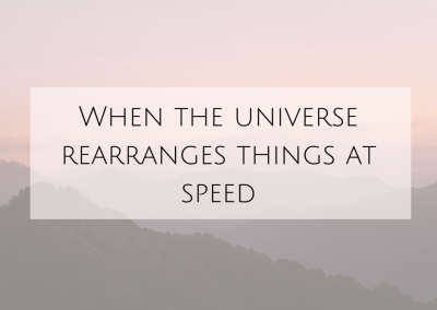 When the Universe Rearranges Things AT SPEED