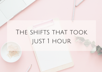 The shifts that took just 1 hour