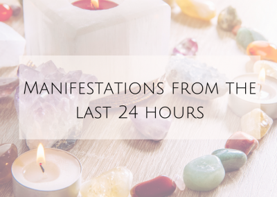 Manifestations from the last 24 hours