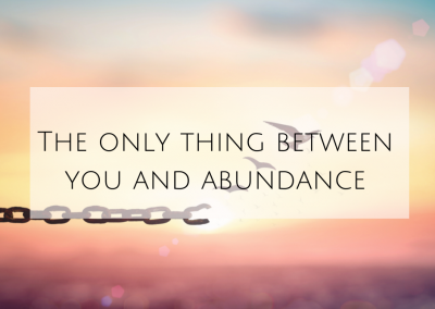 The only thing between you and abundance