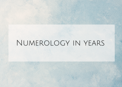 Numerology in years