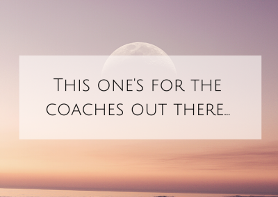 This one's for the coaches out there…