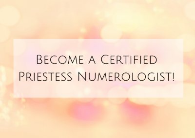 Become a Certified Priestess Numerologist!